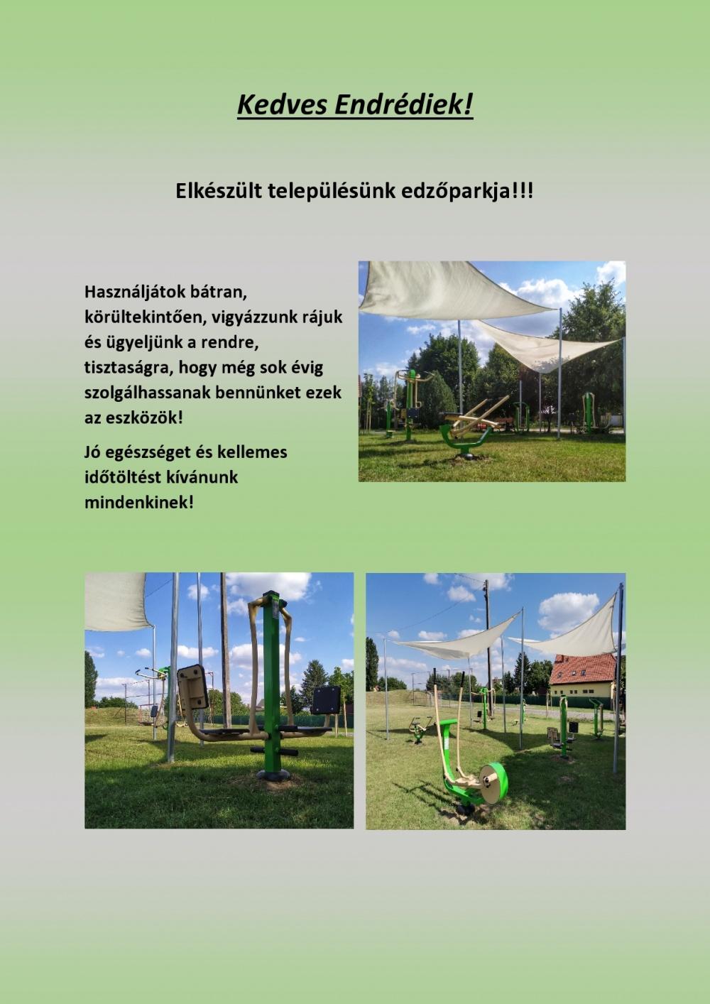 Megnyílt Balatonendréd edzőparkja